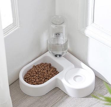 Corner Automatic Food & Water Dispenser