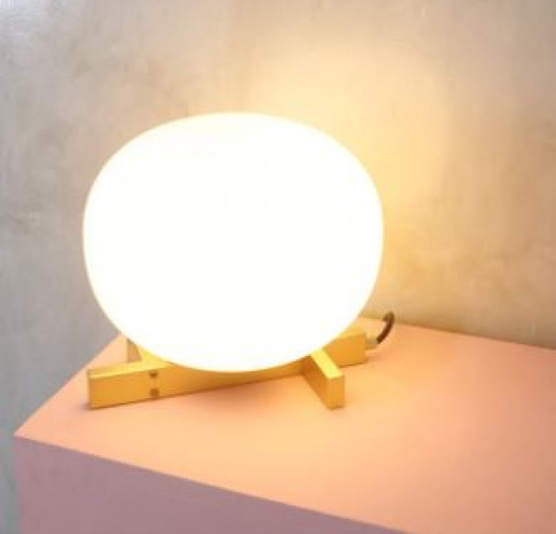 Arendal Matte Gold Frosted Glass Table Lamp