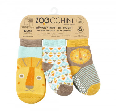 Leo the Lion Baby Comfort Grip Socks (Set of 3)
