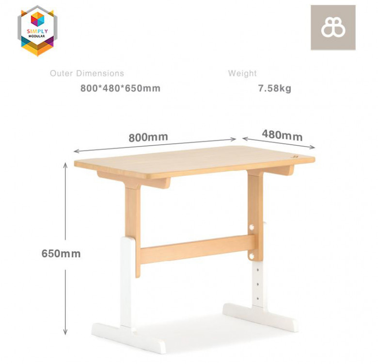 Adjustable Tidy Learning Table