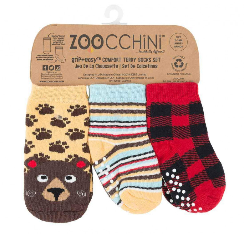 Bosley the Bear Baby Comfort Grip Socks (Set of 3)