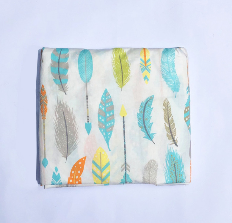 Bohemian Feathers Fitted Crib Sheet