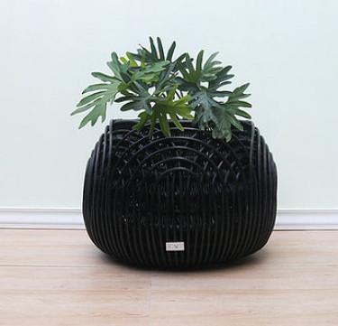 Alon Statement Piece Large Black Planter