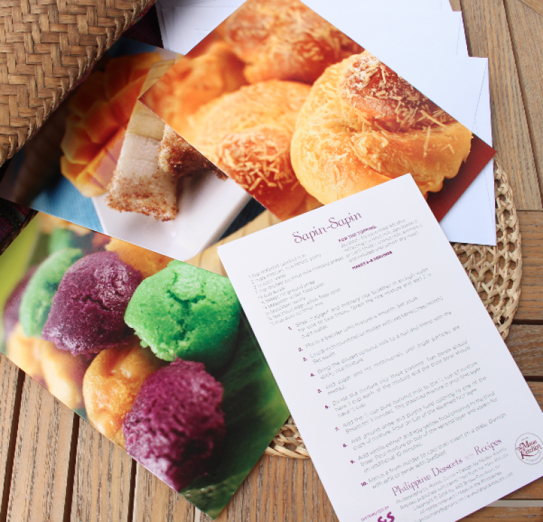 Philippine Desserts Greeting Cards with Recipes (Set of 12)