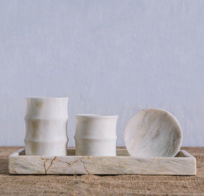 Marble Toothbrush Holder & Cup