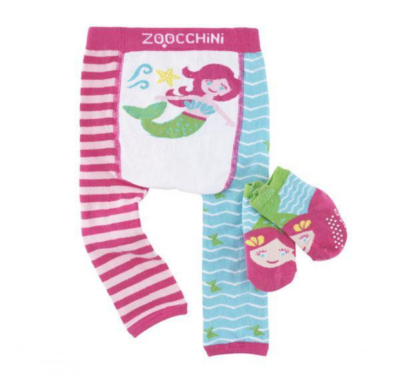 Marietta the Mermaid Grip+Easy Crawler Leggings & Socks