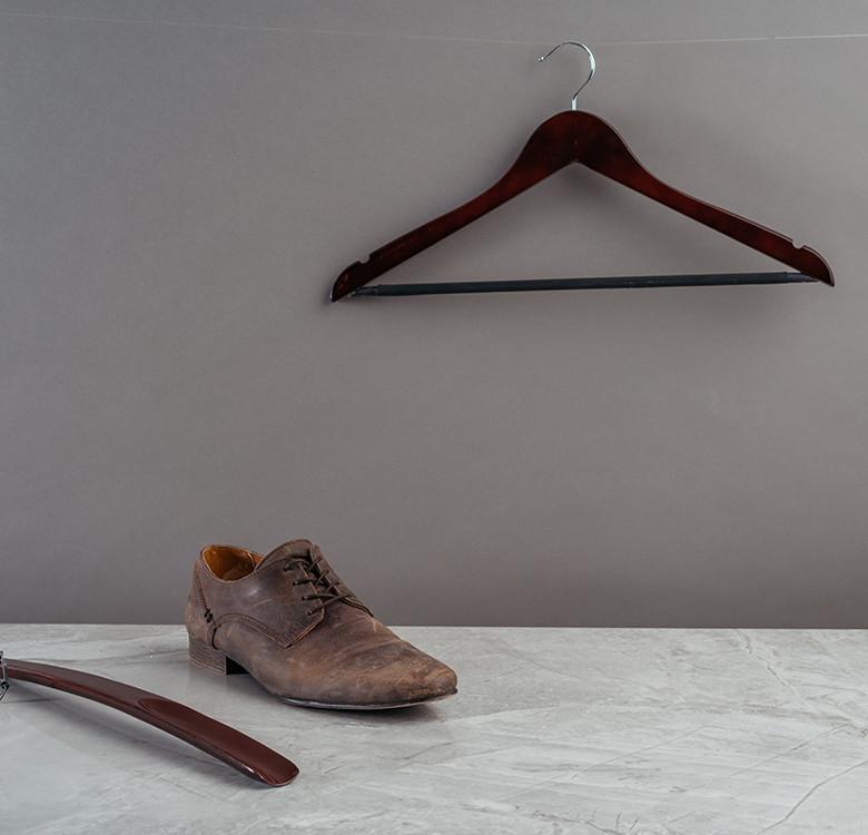 1.2cm Straight Design Male Hanger Set of 10 (Mahogany)