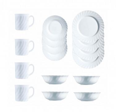 Trianon 16-Piece White Table Set