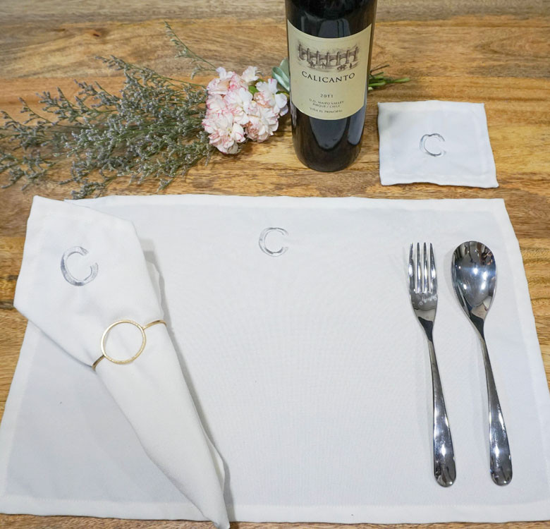 Personalized Table Linen Set of 4