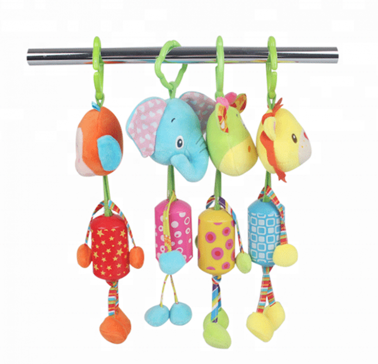 Large Animal Wind Chimes with Stroller Clip