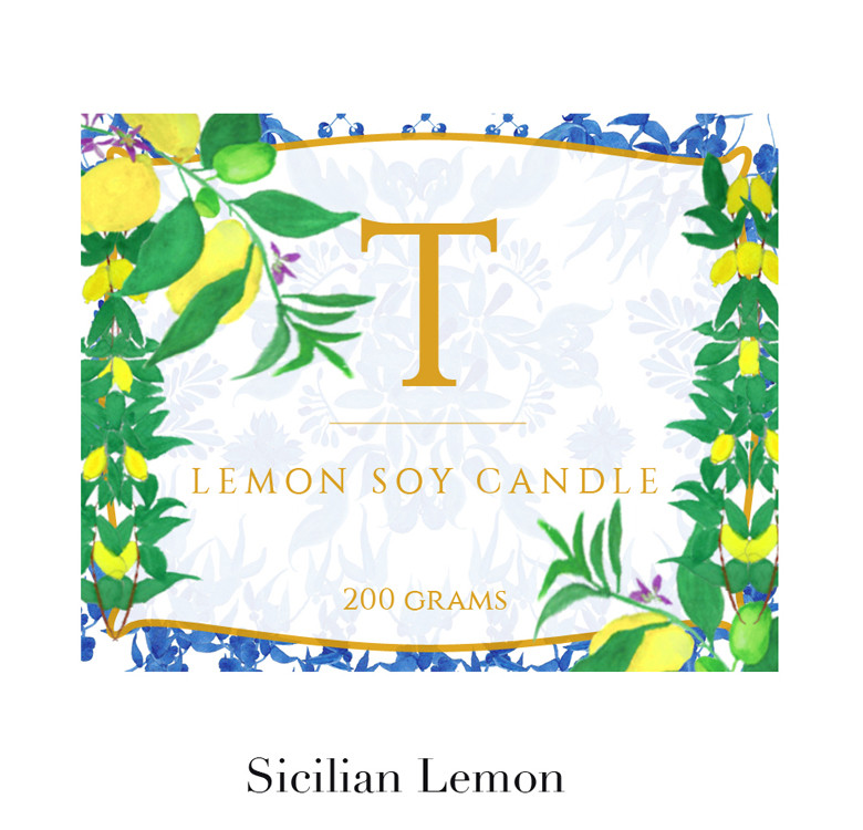 Customized Lemon Soy Candle