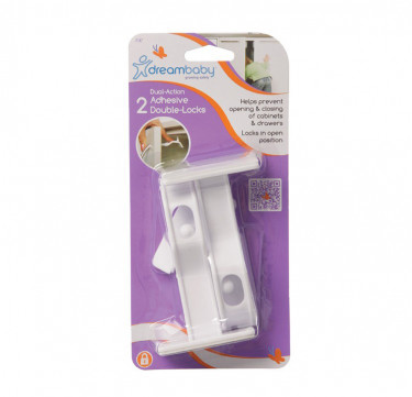 Adhesive Double Locks 2 Pack