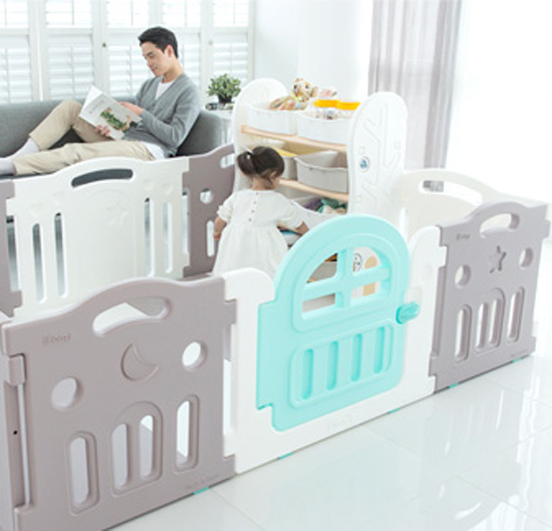 Marshmallow Plus Baby Room with Playmat (Purple Gray + White)