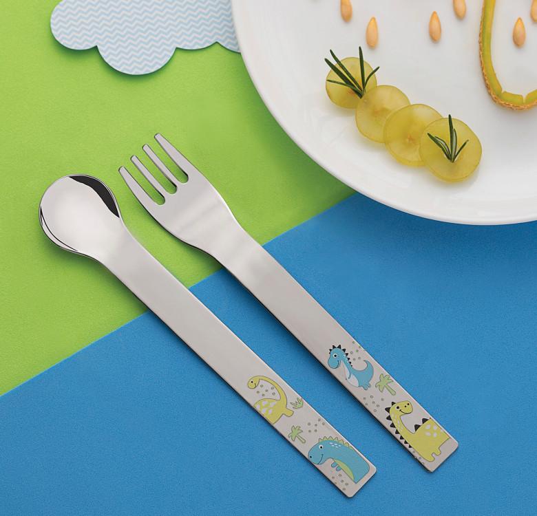 Allegria 2-Piece Cutlery Set (Dinosaur)