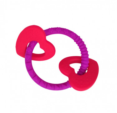 Luscious Hearts Sensory Teether Ring