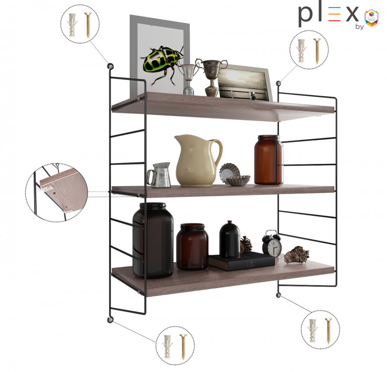 Plex 2-Level Shelving System