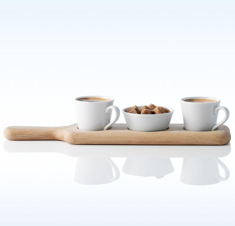 36cm Paddle Duo Espresso Set & Oak Paddle