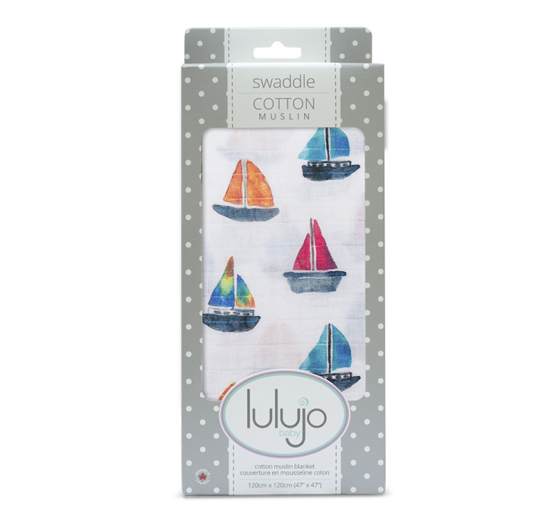 Sailboats Cotton Muslin