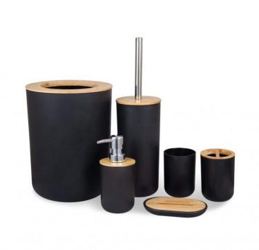 6-Piece Bamboo Bathroom Set