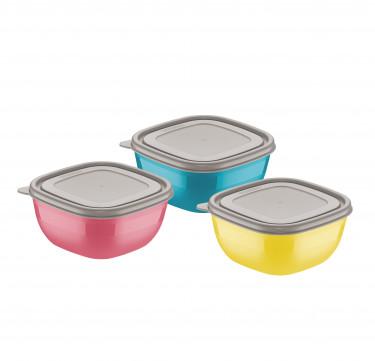 Mixcolor 3-Piece Container Set