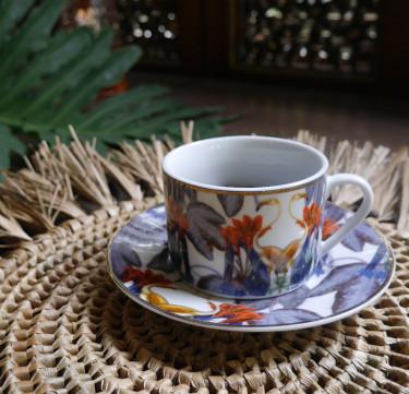 Flamingo Teacup & Saucer Set