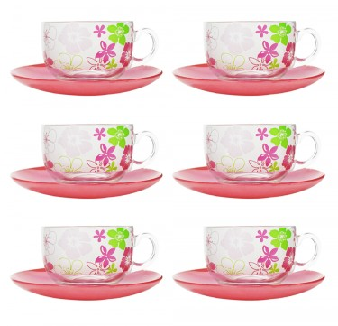 Fresh Flower Pink 7oz Cup & 14cm Saucer Set