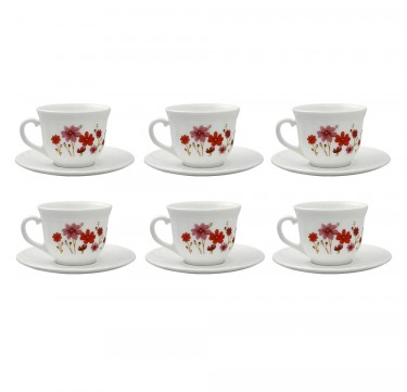 Country Flower 7oz Cup & 14cm Saucer Set