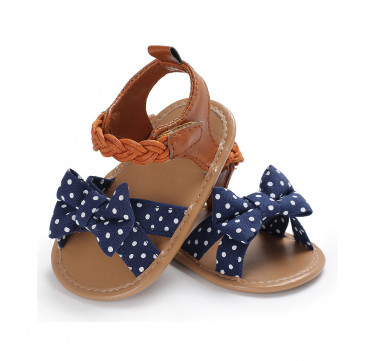 Polka and Braided Leather Sandals