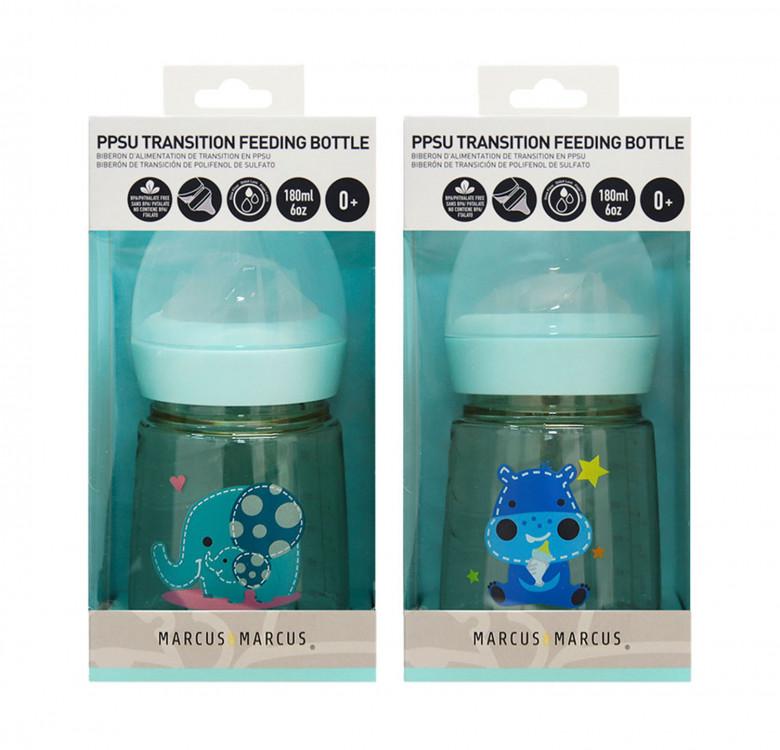 PPSU Transition Feeding Bottle Set of 2 (180ml)
