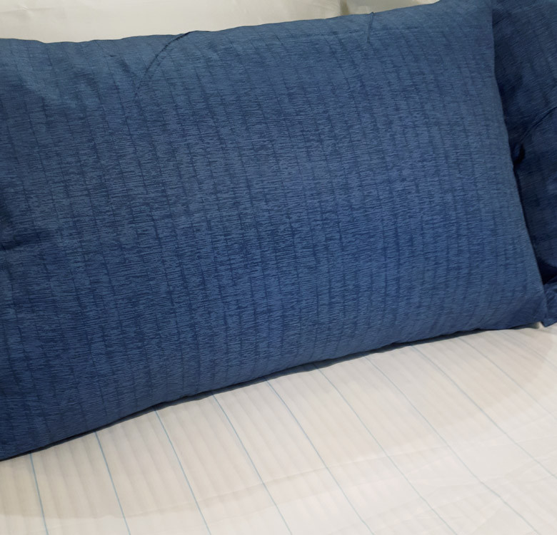 3-Piece Seagrass Blue Stripes Sheet Set