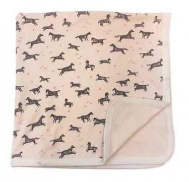 Finn + Emma Wild Horses Reversible Blanket