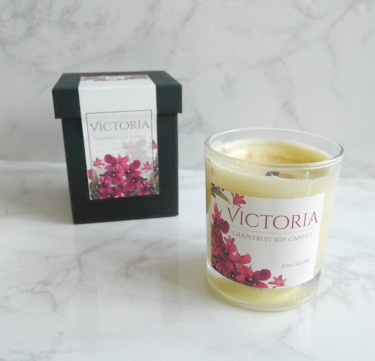 Customized Grapefruit Soy Candle