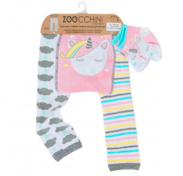 Allie the Unicorn Grip+Easy Crawler Leggings & Socks