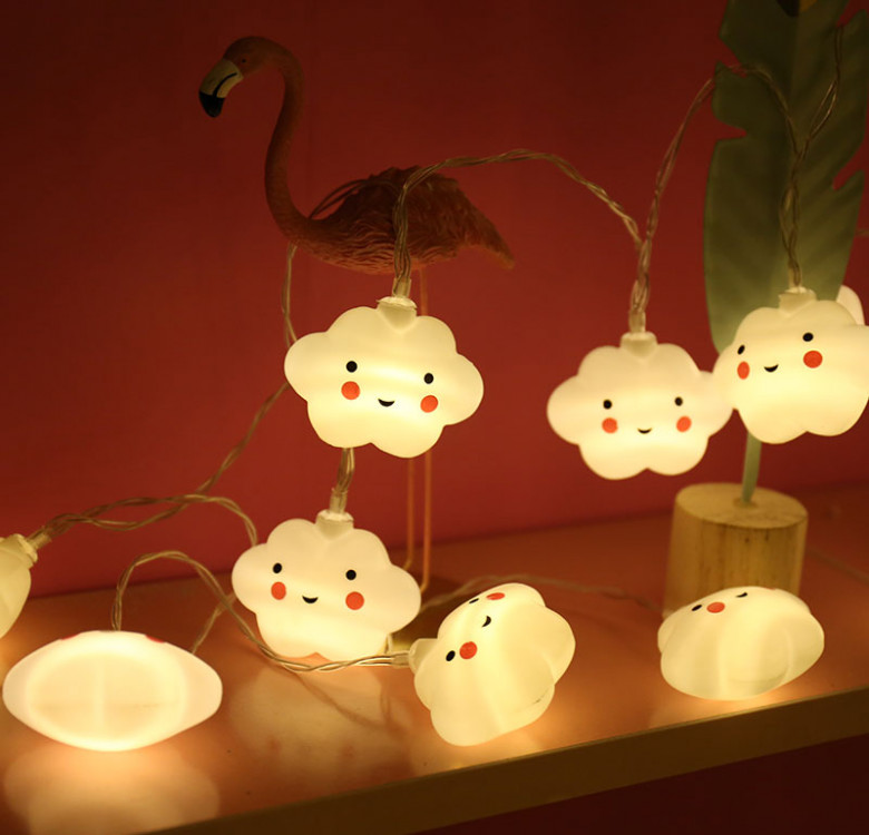 Cheerful Clouds String Lights