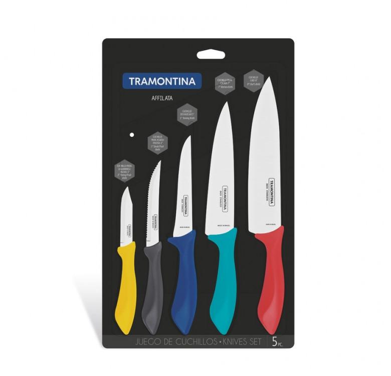 Affilata 5-Piece Knife Set Colored