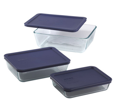 6-Piece Rectangular Glass Storage Value Pack