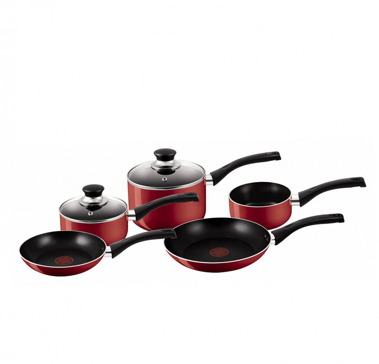Bistro Red 5-Piece Cookware Set