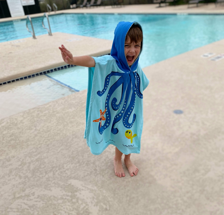 Owie the Octopus Hooded Poncho (Kids)