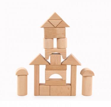 22 Unit Wooden Blocks