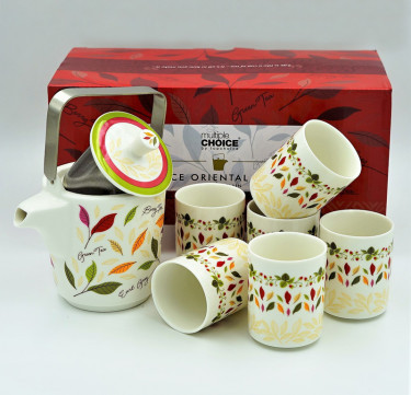 7-Piece Sweet Serenitea Oriental Tea Set