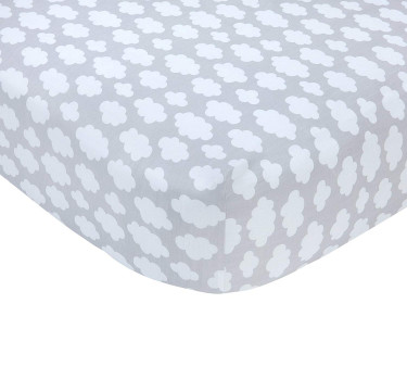 Clouds Fitted Crib Sheet