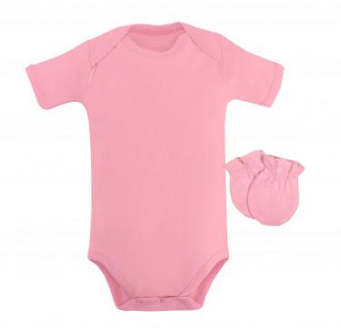 Petal Pink Newborn Bodysuit Set