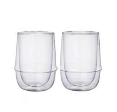 23106 Kronos Double Wall Coffee Cups (Set of 2)