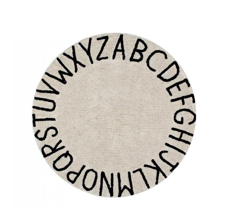 Round ABC Washable Rug