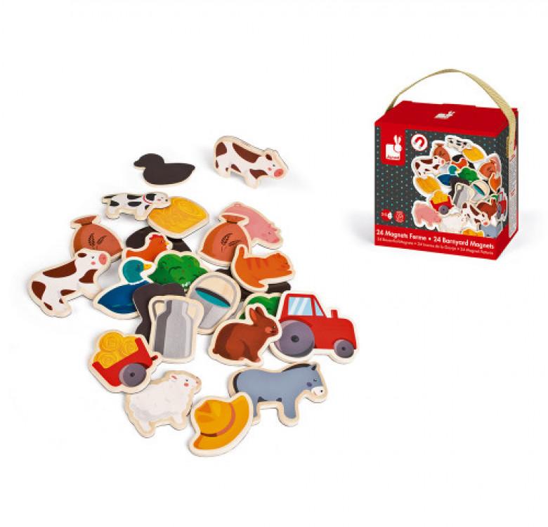 Farm Magnets 24 Pieces