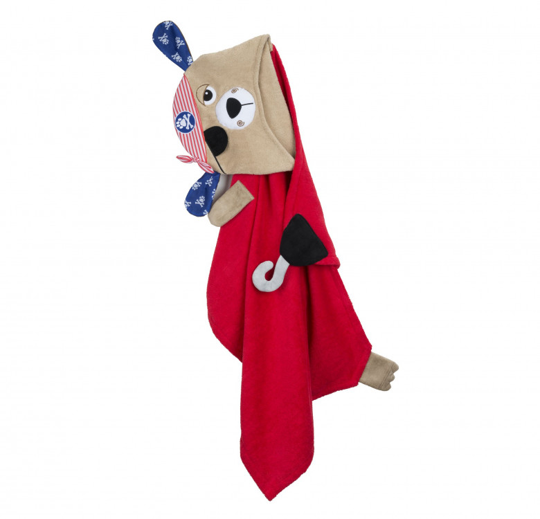 Pedro the Pirate Dog Kids Towel Hoodie
