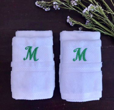 Monogrammed Face Towel Set of 4