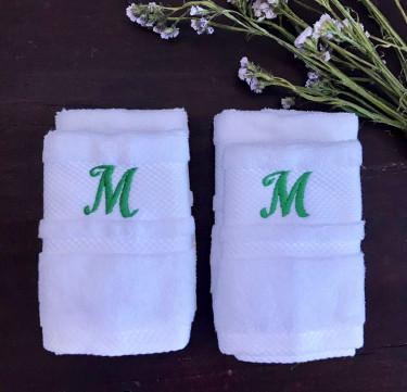 Monogrammed Face Towel Set of 4