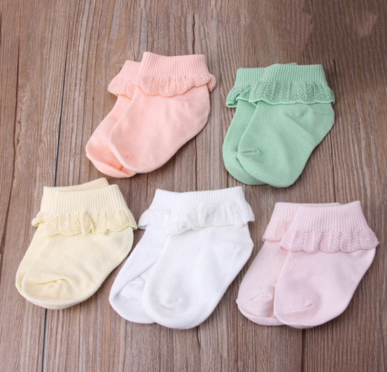 5-Pack Ruffled Baby Socks
