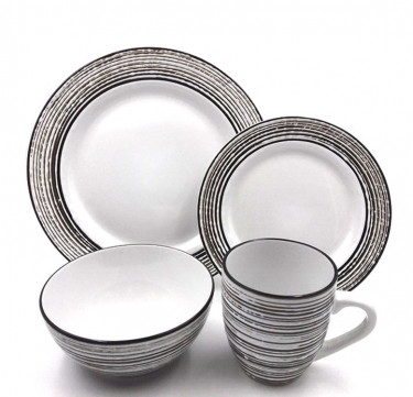 16-Piece White Birch Dinnerware Set